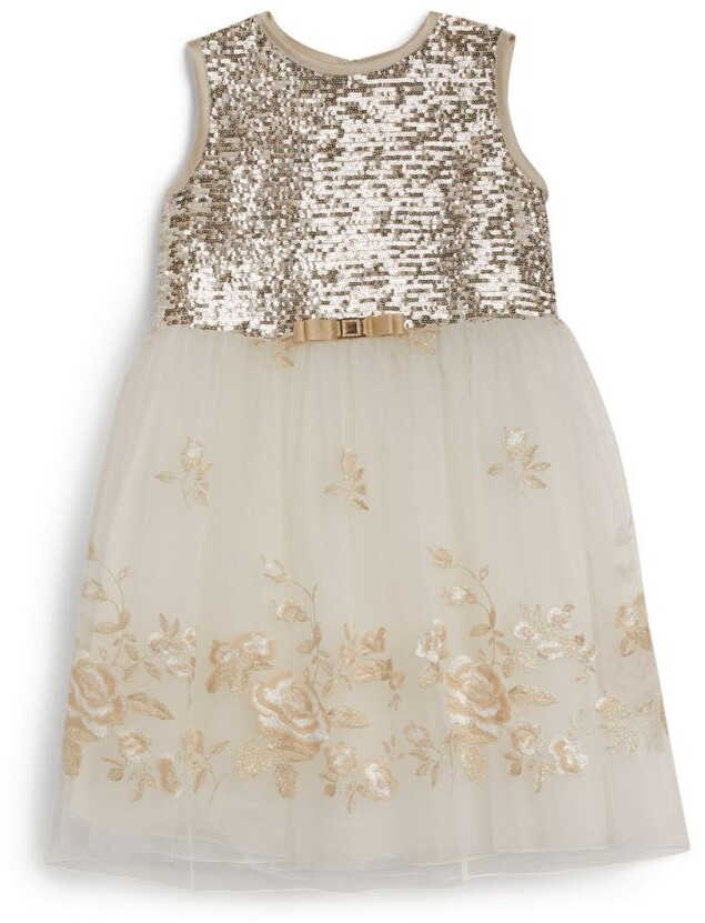 Lesy Sequinned Tulle Dress (3-14 Years)