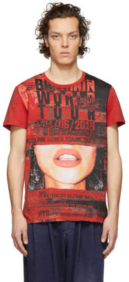 Balmain Red Graphic T-Shirt
