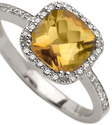 Brian Danielle Citrine Diamond Ring