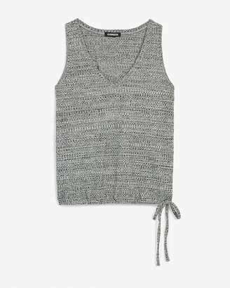 Express Heathered Cinched Side Tie Easy Tank