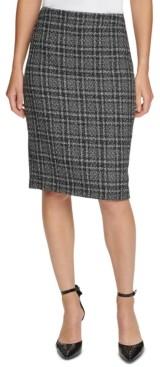 DKNY Tweed Pencil Skirt