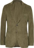 Officine Generale Olive Slim-Fit Cotton-Corduroy Blazer