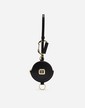 Dolce & Gabbana Calfskin Coin Pocket With Strap And Branded Plate