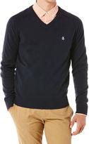 Original Penguin Chester Long Sleeve V-Neck Sweater