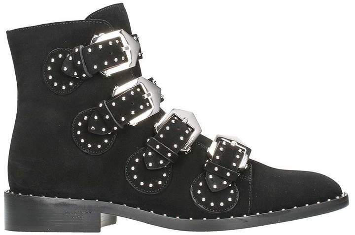 Givenchy Elegant Flat Black Sueede Leather Ankle Boots