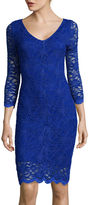 Tiana B 3/4-Sleeve Allover Lace Dress - Tall