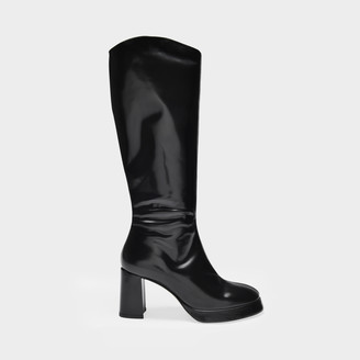 Miista Boots Eirlys In Black Smooth Leather