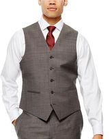 Claiborne Black & White Nailhead Suit Vest - Classic Fit