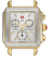 Michele Women's Deco Diamond Diamond Dial Two-Tone Watch Case, 33Mm X 35Mm