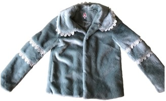 Shrimps Blue Faux fur Coats
