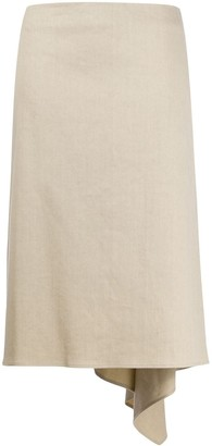Joseph Asymmetric-Hem Knee-Length Skirt