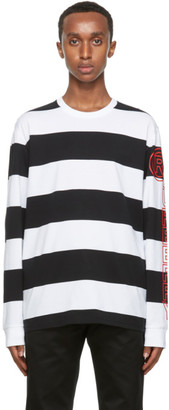 Burberry Black and White Laxley Long Sleeve T-Shirt