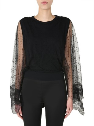 RED Valentino Lace Sleeve Blouse