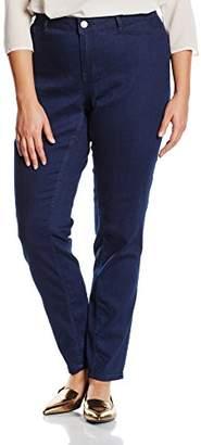 Junarose Women's JRQUEEN NW SLIM JEANS DARKBLUE SUPPLY -K Jeans, Blue (Dark Blue Denim), 42