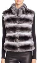 Quilted Chinchilla Fur Vest
