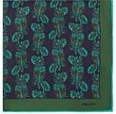 Prada Men's Pineapple-Print Silk Twill Pocket Square