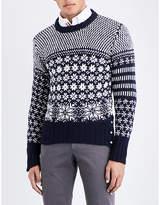 Thom Browne Snowflake Intarsia Wool And Mohair-blend Jumper
