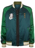 Miharayasuhiro Embroidered Satin Bomber Jacket