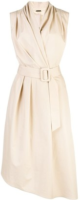Adam Lippes poplin V-neck dress