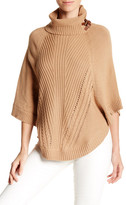 Cullen Knit Leather Poncho