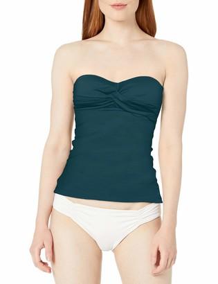 Anne Cole Women's Twist Front Shirred Bandeau Tankini Swim Top