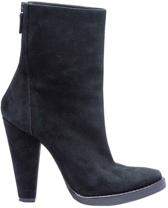 Balmain Black Suede Ankle boots