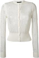 Alexander McQueen wide waistband cardigan