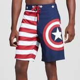 Marvel Men's Captain America Logo Americana Board Shorts