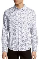 Saks Fifth Avenue Star Cotton Button-Down Shirt