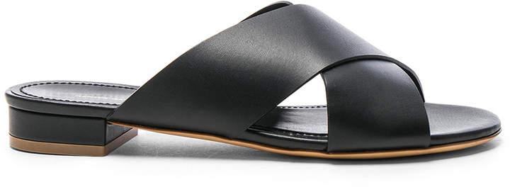Mansur Gavriel Leather X Strap Sandals