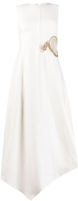 J.W.Anderson Crystal-Embellished Cut-Out Detail Dress