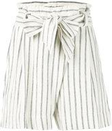 By Malene Birger striped shorts - women - Cotton - XS