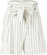 By Malene Birger striped shorts - women - Cotton - XXS