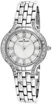 Anne Klein 10-9671MPSV Women's Silver Stainless Steel Watch with Crystal Accents