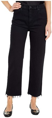 Hudson Remi High-Rise Straight Cropped in Worn Black (Worn Black) Women's Jeans
