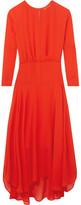 Maje Draped Georgette Maxi Dress - Red