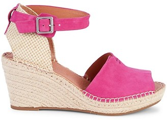 Gentle Souls Celisse Suede Wedge Espadrille Sandals