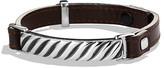 David Yurman Modern Cable ID Bracelet in Brown Leather