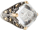 John Hardy Two-Tone Quartz & Diamond Ring