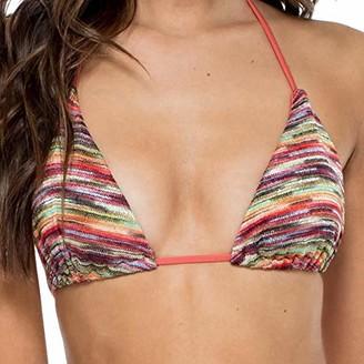 Luli Fama Women's Prints Cha Seamless Triangle Bikini Top Swimwear