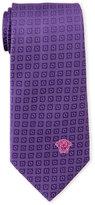 Versace Purple Circle & Square Silk Tie