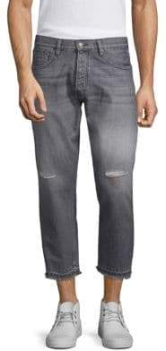 The Kooples Ripped Cropped Jeans