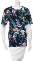 Balenciaga Scoop Neck Floral Print Top