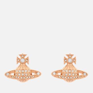 Vivienne Westwood Women's Minnie Bas Relief Earrings - Pink Gold Crystal
