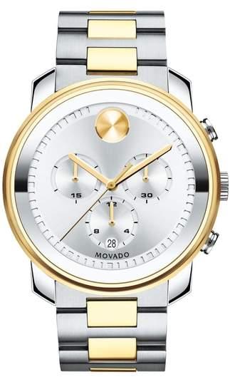 Movado Bold Two Tone Chronograph Watch, 44mm