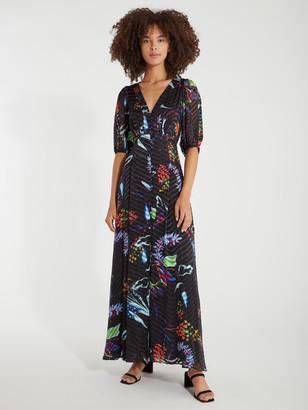 Tanya Taylor Ariela Floral Burnout Maxi Dress