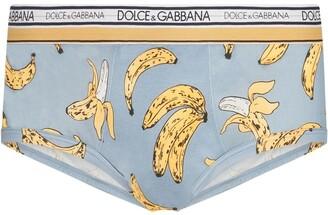 Dolce & Gabbana Banana-Print Mid Briefs