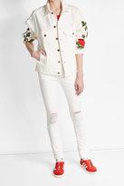 Off-White Printed Ecru Denim Jacket
