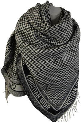 Christian Dior Black Cashmere Scarves
