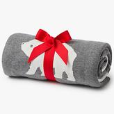 John Lewis Polar Bear Baby Blanket, Grey